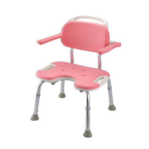 リッチェル やわらかシャワーチェア ピンク U型肘掛付ワイド VSY0602