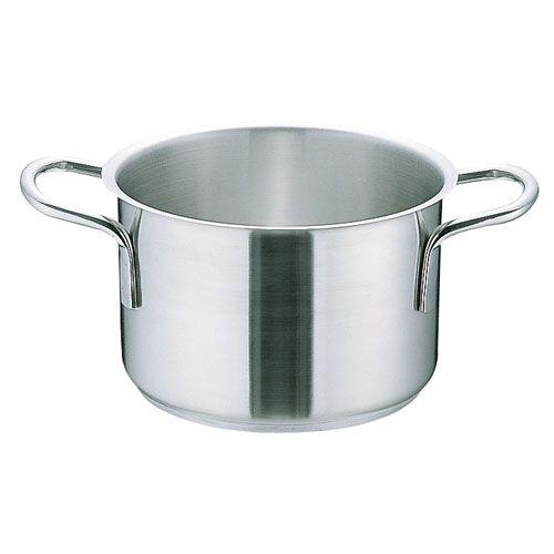 ムラノ インダクション18-8半寸胴鍋 (蓋無)40cm AHVA307【S1】