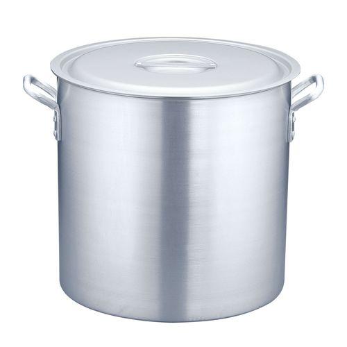TKG 寸胴鍋 アルミニウム(アルマイト加工) (目盛付)TKG 42cm AZV6342