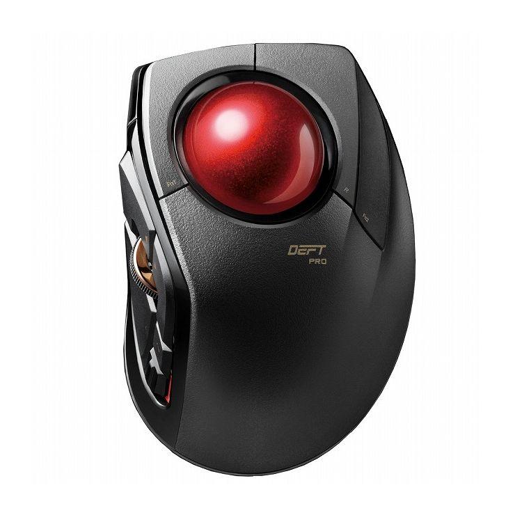 エレコム トラックボールマウス 3年保証 8ボタン 人差し指 チルトホイール Bluetooth ブラック(黒) M-DPT1MRBK(代引不可)【送料無料】