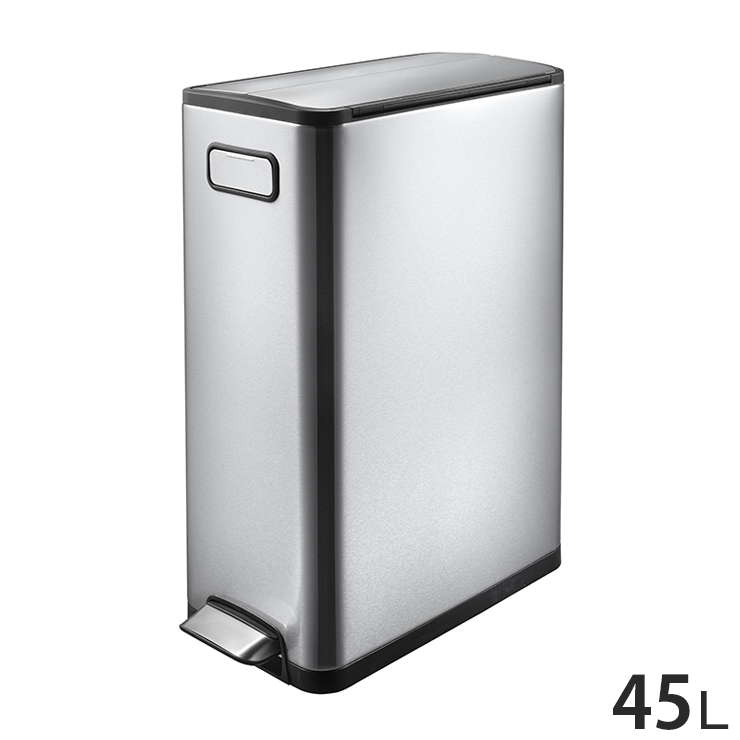 EKO エコフライ ステップビン 45L ステンレス ゴミ箱 ごみ箱 1年保証 ダストボックス キEK9377MT-45L【送料無料】