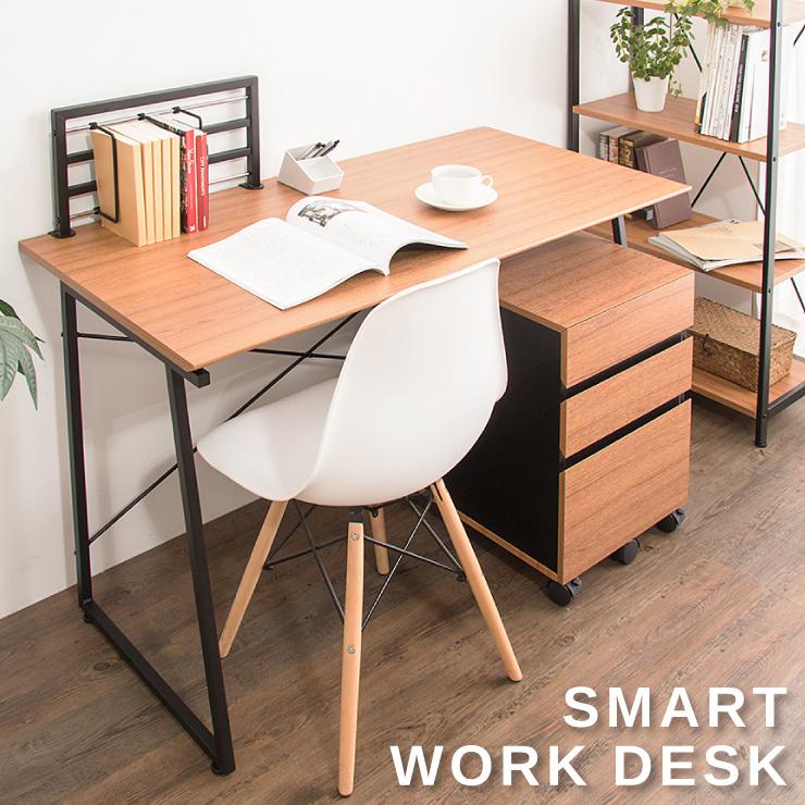 ワークデスク SMART パソコンデスク 木製 PCデスク デスク 机 おしゃれ 北欧 シンプル 人気 120cm幅 学習机 オフィス家具(代引不可)【送料無料】
