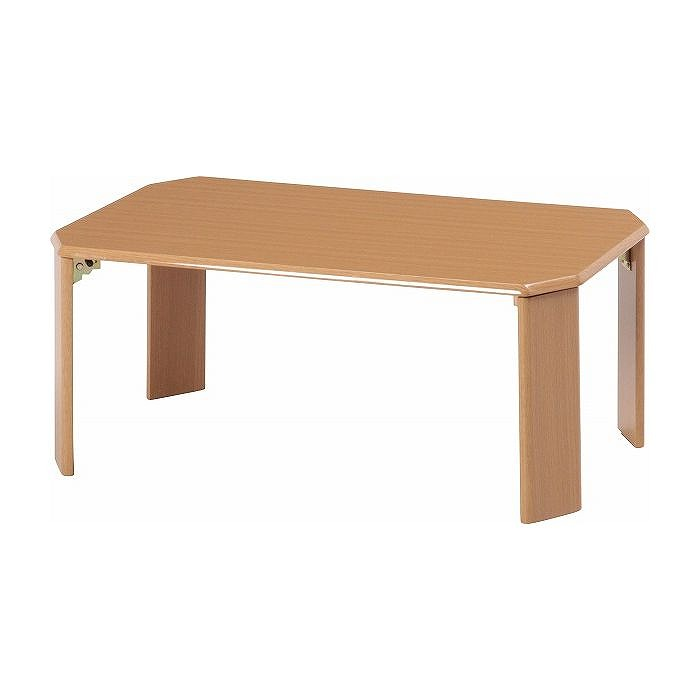 ローテーブル ウッディ W750×D500×H320mm 繊維板 おしゃれ ライトブラウン(代引不可)【送料無料】