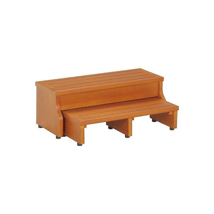 スライド玄関台 フィット W600×D260~410×H130~230mm 天然木 おしゃれ(代引不可)【送料無料】