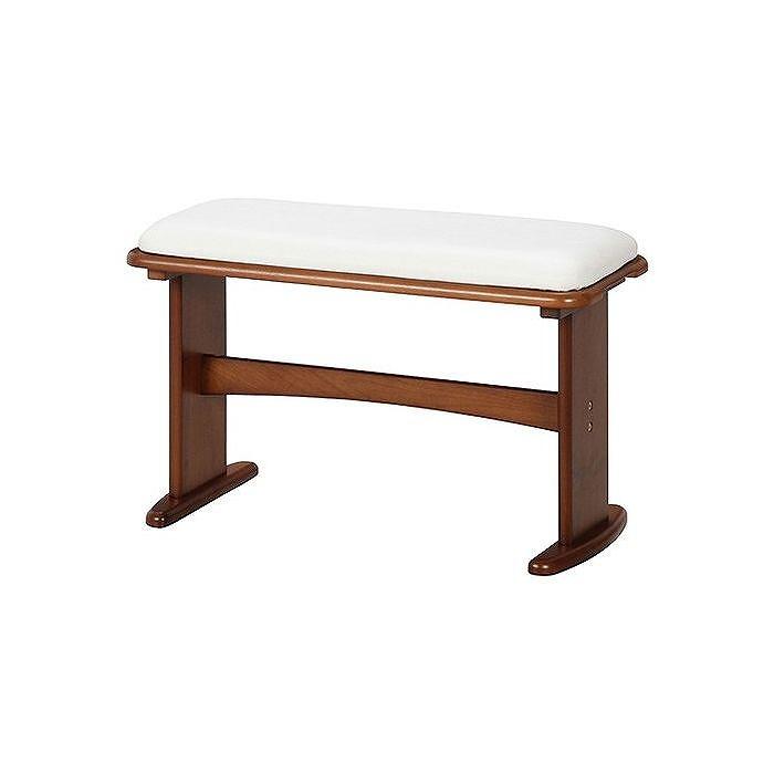 食卓4点セット ベンチ W690×D300×H435mm 435mm ラバーウッド おしゃれ ミディアムブラウン(代引不可)【送料無料】
