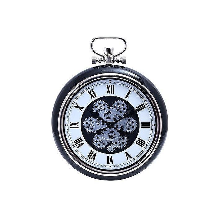 掛時計 ギア W400×D97×H495mm ABS樹脂 スチール ウォッチ おしゃれ ブラック(代引不可)【送料無料】