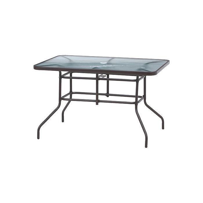 ガラステーブル W1200×D860×H730mm 鉄 強化ガラス おしゃれ(代引不可)【送料無料】