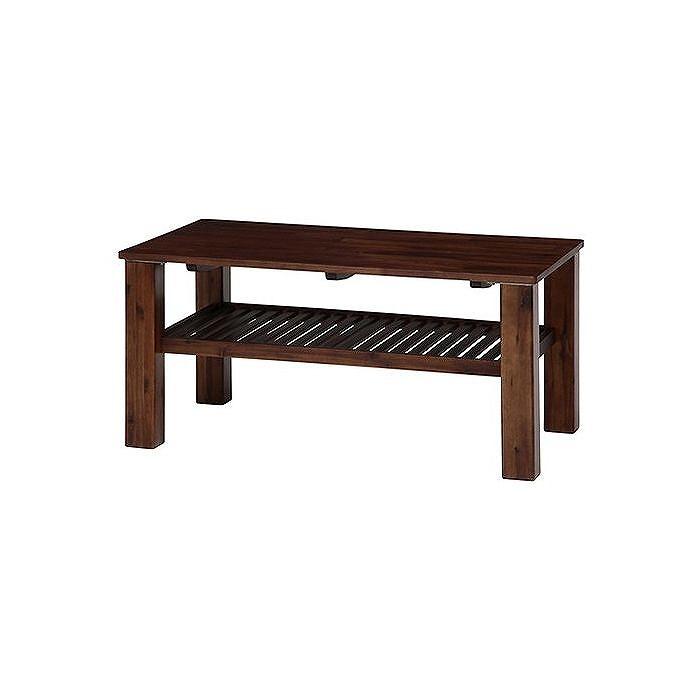 センターテーブル ブラウン W1050×D600×H500mm ウォルナット おしゃれ(代引不可)【送料無料】