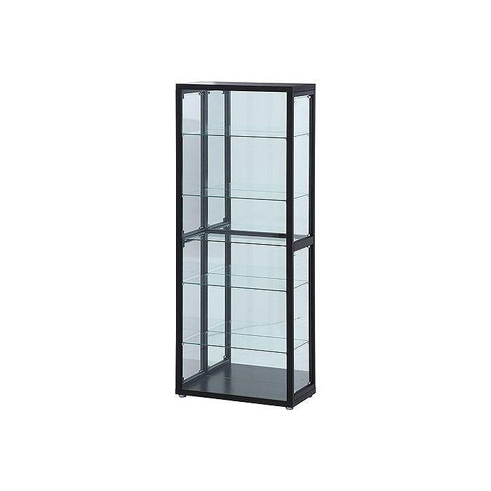 コレクションケース コレクションラック ガラス 6段 (4つ扉) ブラック W700×D350×H1800mm 強化ガラス おしゃれ(代引不可)【送料無料】