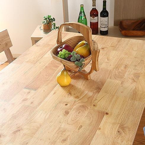 ダイニングテーブル W1200×D750×H720mm 天然木(ラバーウッド) おしゃれ(代引不可)【送料無料】