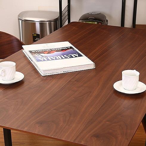ダイニングテーブル モカ ブラウン×GY W1400×D800×H720mm ウォルナット突板 天然木 おしゃれ(代引不可)【送料無料】