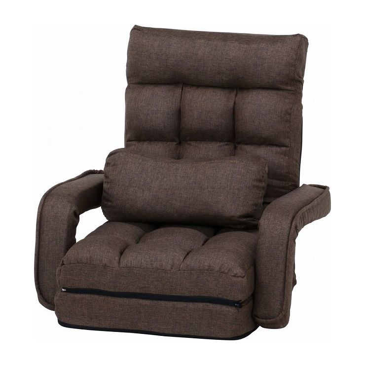 4WAY座椅子 ダークブラウン 幅70×奥行58~167×高さ11~70cm 座面高 110~220mm(代引不可)【送料無料】
