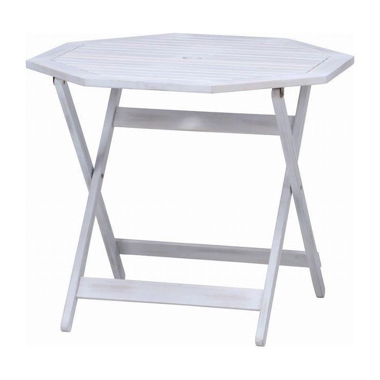 八角テーブル 幅90×奥行90×高さ71.5cm 天然木 アカシア材(代引不可)【送料無料】