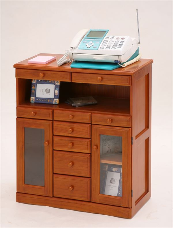 マルチFAXラック 電話台 ファックス台 ワイド 幅72cm FAX台 ルーター プリンター 収納 収納棚 でんわ台 リビング収納 (代引不可)【送料無料】