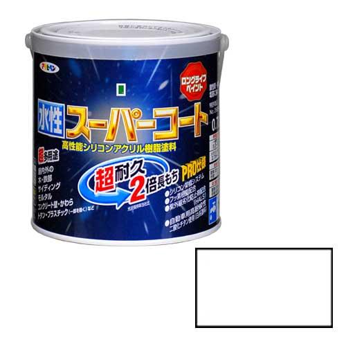 アサヒペン 売れ筋 多用途 水性スーパーコート 特売 0.7L ツヤケシシロ