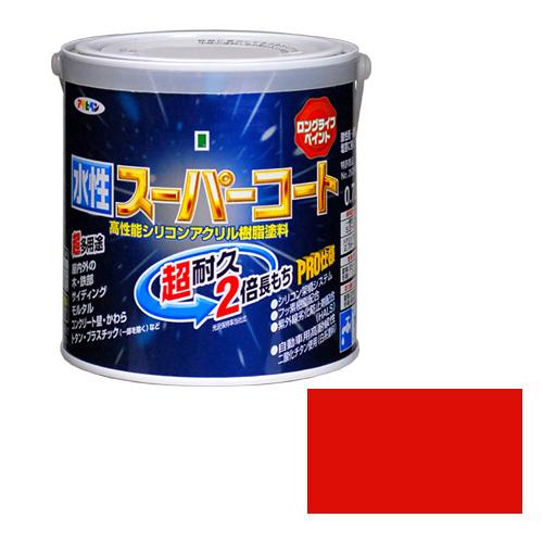 アサヒペン 新作 大人気 多用途水性スーパーコート 0.7Lアカ 特価品コーナー☆