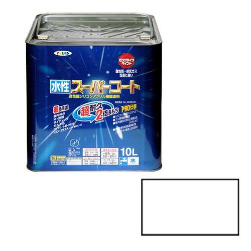 アサヒペン 多用途-水性スーパーコート 10L-シロ【送料無料】