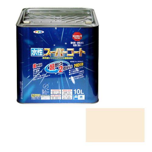 アサヒペン 多用途-水性スーパーコート 10L-ミルキーホワイト【送料無料】