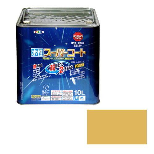アサヒペン 多用途-水性スーパーコート 10L-ハーベストイエロー【送料無料】