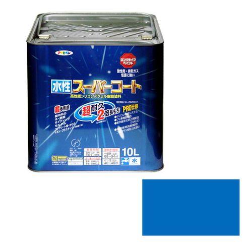 アサヒペン 多用途-水性スーパーコート 10L-ソライロ【送料無料】