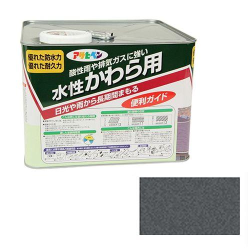 アサヒペン 水性かわら用 7L-ギンクロ【送料無料】