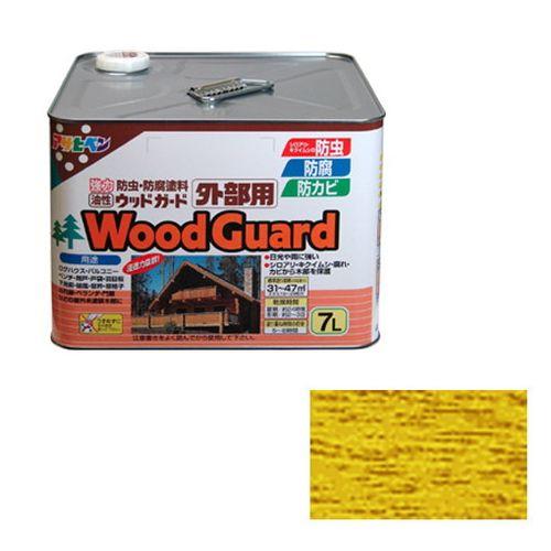 アサヒペン 油性ウッドガード外部用 7L-パイン-15【送料無料】