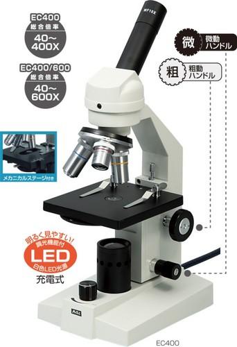 《単品》生物顕微鏡 EC400/600(簡易メカニカルステージ付タイプ)