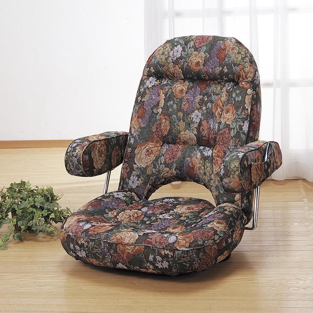 腰に優しい跳ね上げ式座椅子 椅子 いす 座椅子 座いす チェア おしゃれ ワイドサイズ 背もたれ 組み立て不要 完成品(代引不可)【送料無料】【inte_D1806】