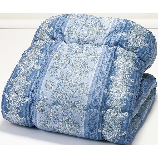 ほこりの出にくいボリューム寝具セット ダブル 12点セット ブルー系 布団セット ふとんセット(代引不可)【送料無料】