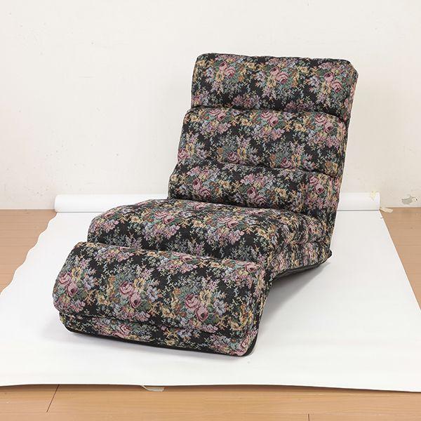 NEW ふかふかリラックスチェアDX 枕付き 肘なし 座椅子 座いす 座イス リクライニング ハイバックチェアー 枕 まくら(代引不可)【送料無料】