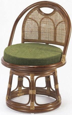 東京ラタン 天然籐 回転チェア ミドルタイプ チェア 高座椅子 籐 椅子 チェア(代引不可)【送料無料】