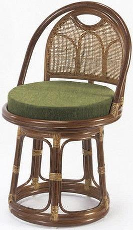 東京ラタン 天然籐 回転チェア ハイタイプ チェア 高座椅子 籐 椅子 チェア(代引不可)【送料無料】