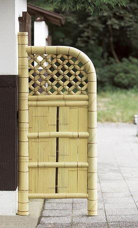 天然竹玉袖垣 55cm幅 天然竹使用 竹垣 目隠し フェンス 玄関 間仕切り 和風 庭園(代引不可)【送料無料】