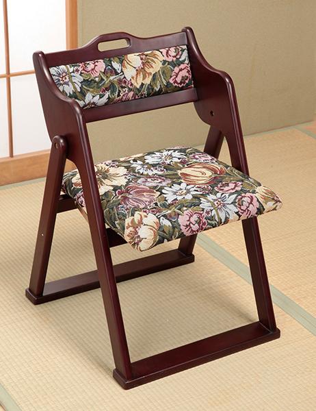 天然木 折りたたみチェア 和風折りたたみ椅子 折りたたみ イス 椅子 チェア 完成品(代引不可)【送料無料】