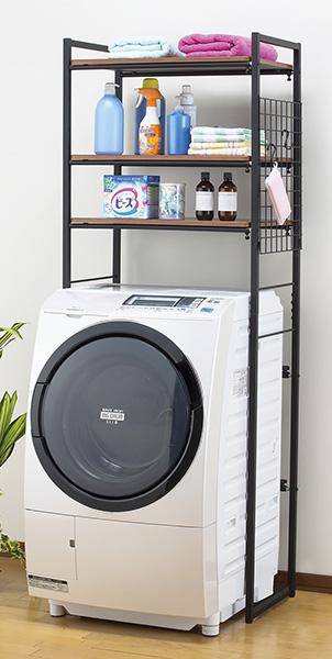 伸縮ランドリーラック 洗濯機ラック 洗濯機棚 伸縮 スリム ランドリー 収納 収納ラック(代引不可)【送料無料】【S1】