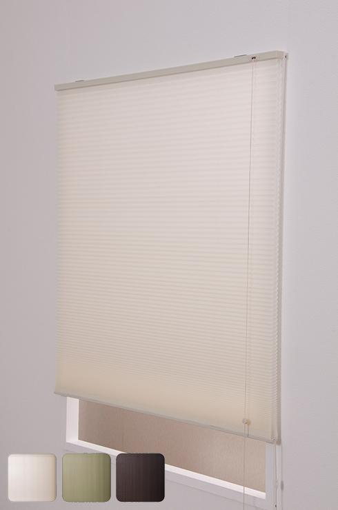 ハニカムプリーツシェード ブラインド シェード ロール インテリア ハニカムプリーツシェード 180×180cm(代引不可)【送料無料】