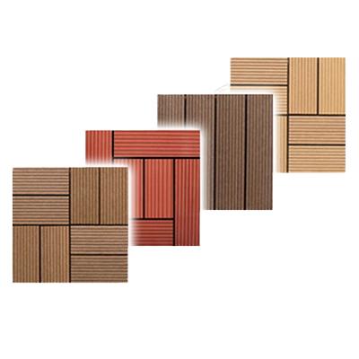 ウッドパネル 27枚セット ウッドタイル 人工木 樹脂 木製タイル フロアデッキ ウッドデッキ ベランダ タイル バルコニー(代引不可)【送料無料】