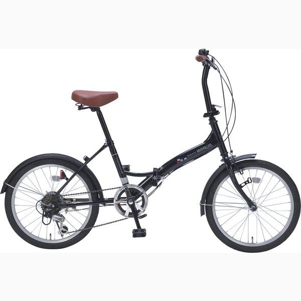 折畳自転車20インチ6ギア ブラック M-209 BK(代引不可)【送料無料】