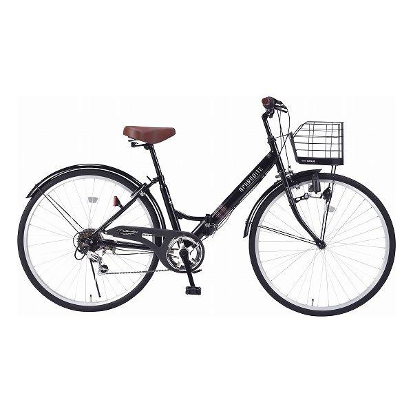 マイパラス シティサイクル26型6ギア肉厚チューブ/折畳式 自転車 26インチ ブラック M-507 BK(代引不可)【送料無料】