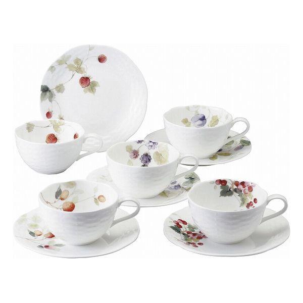 ナルミ ルーシーガーデン 5客アソートティー・コーヒー碗皿 96010-23067P(代引不可)