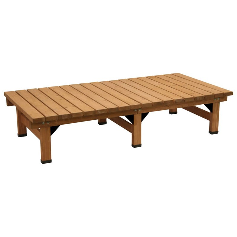 ベンチ 木製 屋外 デッキ 縁台 木製 デッキ縁台 180x58cm ウッドデッキ風 縁側 本格的 DIY 木製 天然木(代引不可)【送料無料】