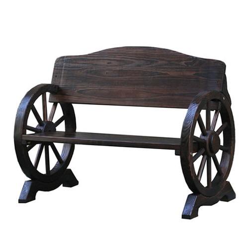 ベンチ 木製 屋外 車輪ベンチ 1100 二人掛け 天然木 椅子 チェア 玄関(代引不可)【送料無料】