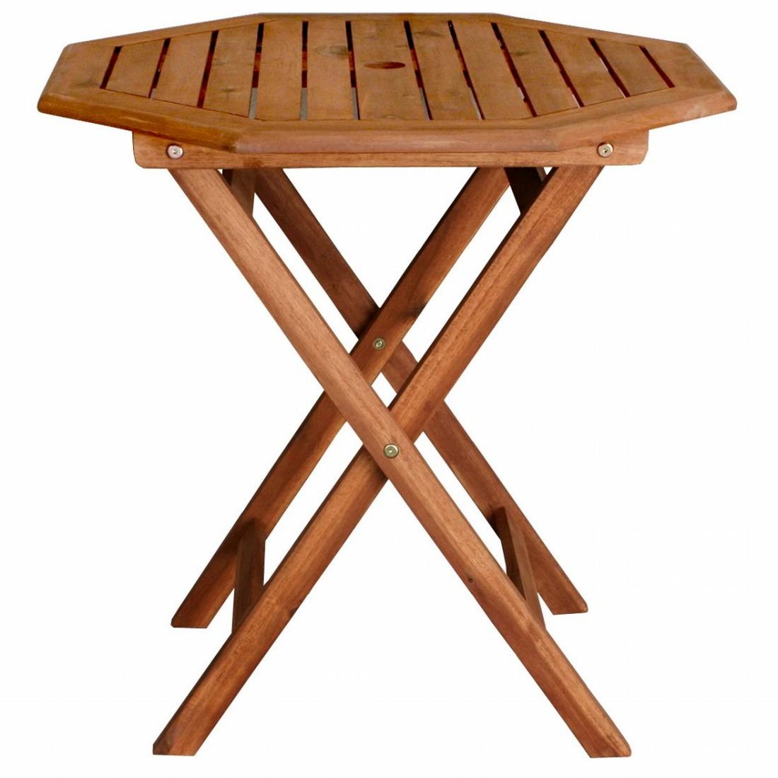 ガーデン八角テーブル幅70 木製 天然木 庭 ベランダ おしゃれ 北欧 ガーデン 屋外 ピクニック キャンプ(代引不可)【送料無料】【int_d11】