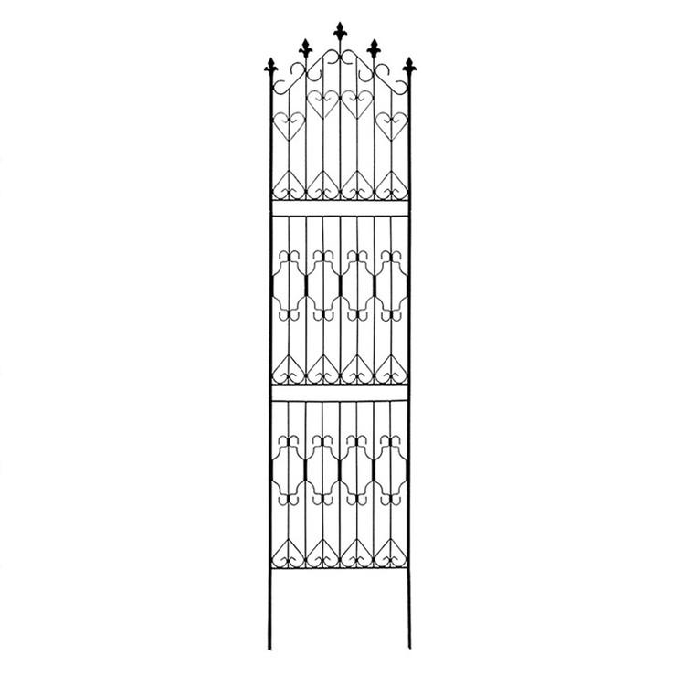 アイアンフェンス220 ハイタイプ 4枚組 フェンス 高い 高め ヨーロッピアン アンティーク ガーデン ガーデニング おしゃれ(代引不可)【送料無料】