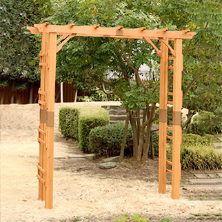 天然木製フレックスパーゴラアーチ190 3台組 バーゴラ 藤棚 ガーデン おしゃれ ガーデニング トンネル(代引不可)【送料無料】