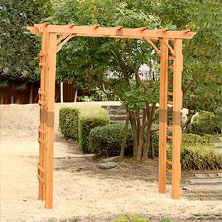 天然木製フレックスパーゴラアーチ190 アーチ バーゴラ 藤棚 ガーデン おしゃれ ガーデニング トンネル(代引不可)【送料無料】