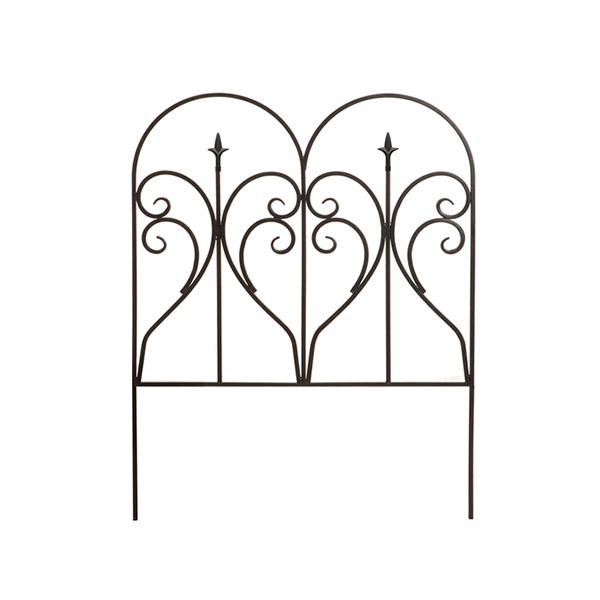 アイアンエッジ フィニアル 6枚組 フェンス 低い アンティーク ガーデン ガーデニング おしゃれ 北欧 庭園(代引不可)【送料無料】