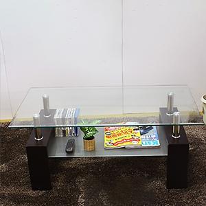 リビングテーブル ガラステーブル 120ラブ(代引き不可)【送料無料】
