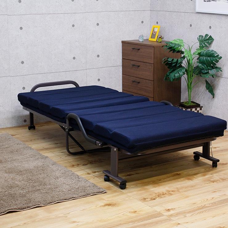 ベッド シングル 折りたたみベッド 折り畳みベッド リクライニング 折り畳み 一人暮らし 敬老の日(代引不可)【送料無料】