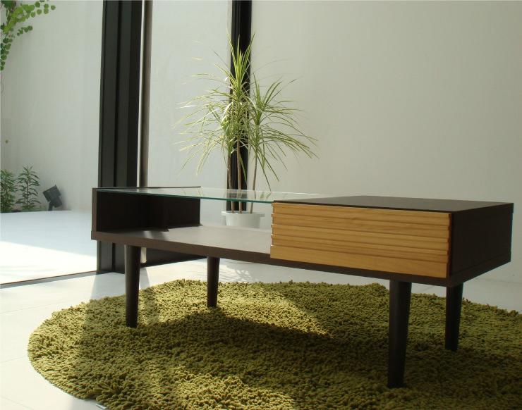 【FE/エフイー】 リビングテーブル 幅100cm 北欧 木製 モダン シンプル ナチュラル 西海岸 リビング 収納 ミッドセンチュリー Cafe カフェ(代引不可)【送料無料】